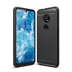 Funda Silicona Carcasa Goma Line para Nokia 7.2 Negro