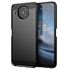 Funda Silicona Carcasa Goma Line para Nokia 8.3 5G Negro