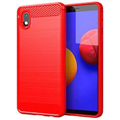 Funda Silicona Carcasa Goma Line para Samsung Galaxy A01 Core Rojo