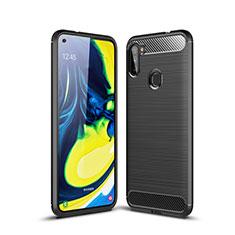 Funda Silicona Carcasa Goma Line para Samsung Galaxy A11 Negro