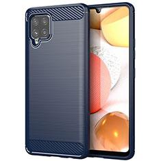 Funda Silicona Carcasa Goma Line para Samsung Galaxy A42 5G Azul