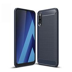 Funda Silicona Carcasa Goma Line para Samsung Galaxy A50 Azul