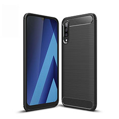Funda Silicona Carcasa Goma Line para Samsung Galaxy A50 Negro