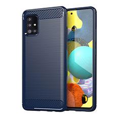 Funda Silicona Carcasa Goma Line para Samsung Galaxy A51 4G Azul