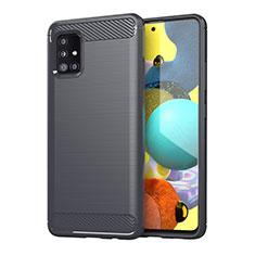 Funda Silicona Carcasa Goma Line para Samsung Galaxy A51 4G Gris