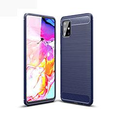 Funda Silicona Carcasa Goma Line para Samsung Galaxy A51 5G Azul