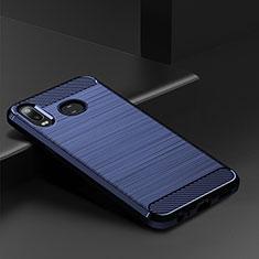Funda Silicona Carcasa Goma Line para Samsung Galaxy A6s Azul