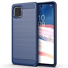 Funda Silicona Carcasa Goma Line para Samsung Galaxy A81 Azul