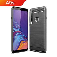 Funda Silicona Carcasa Goma Line para Samsung Galaxy A9s Negro