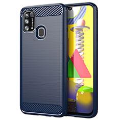 Funda Silicona Carcasa Goma Line para Samsung Galaxy M21s Azul