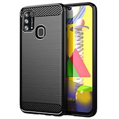 Funda Silicona Carcasa Goma Line para Samsung Galaxy M31 Negro