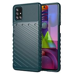 Funda Silicona Carcasa Goma Line para Samsung Galaxy M51 Verde