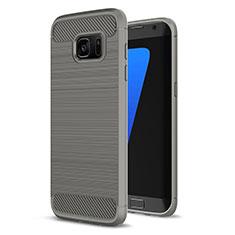 Funda Silicona Carcasa Goma Line para Samsung Galaxy S7 Edge G935F Gris