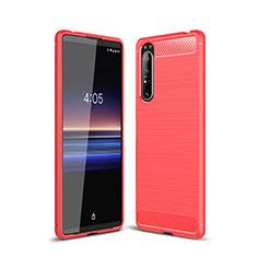 Funda Silicona Carcasa Goma Line para Sony Xperia 1 II Rojo