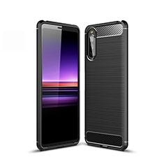 Funda Silicona Carcasa Goma Line para Sony Xperia 10 II Negro