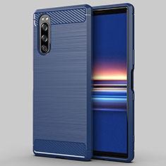 Funda Silicona Carcasa Goma Line para Sony Xperia 5 Azul