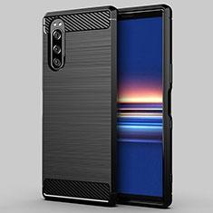 Funda Silicona Carcasa Goma Line para Sony Xperia 5 Negro