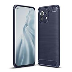 Funda Silicona Carcasa Goma Line para Xiaomi Mi 11 5G Azul