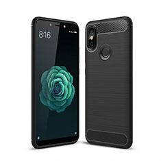 Funda Silicona Carcasa Goma Line para Xiaomi Mi A2 Negro