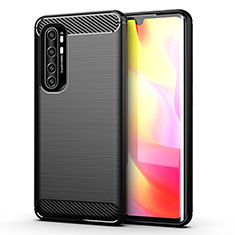 Funda Silicona Carcasa Goma Line para Xiaomi Mi Note 10 Lite Negro
