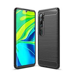 Funda Silicona Carcasa Goma Line para Xiaomi Mi Note 10 Negro