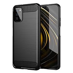Funda Silicona Carcasa Goma Line para Xiaomi Poco M3 Negro