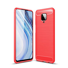 Funda Silicona Carcasa Goma Line para Xiaomi Redmi Note 9 Pro Rojo