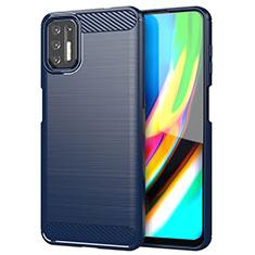 Funda Silicona Carcasa Goma Line S01 para Motorola Moto G9 Plus Azul