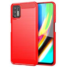Funda Silicona Carcasa Goma Line S01 para Motorola Moto G9 Plus Rojo