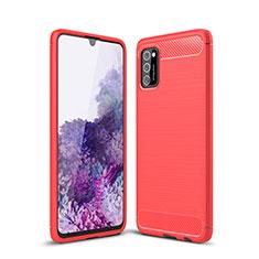 Funda Silicona Carcasa Goma Line S01 para Samsung Galaxy A41 Rojo