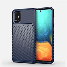 Funda Silicona Carcasa Goma Line S01 para Samsung Galaxy A71 5G Azul