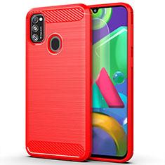 Funda Silicona Carcasa Goma Line S01 para Samsung Galaxy M21 Rojo