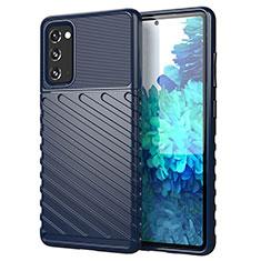 Funda Silicona Carcasa Goma Line S01 para Samsung Galaxy S20 FE 5G Azul