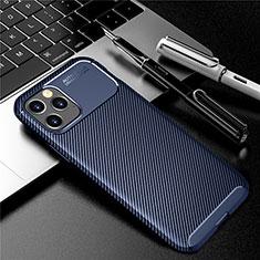Funda Silicona Carcasa Goma Twill para Apple iPhone 12 Max Azul