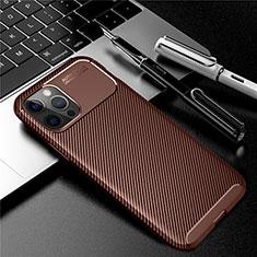 Funda Silicona Carcasa Goma Twill para Apple iPhone 12 Pro Max Marron