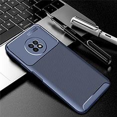 Funda Silicona Carcasa Goma Twill para Huawei Enjoy 20 Plus 5G Azul
