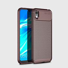 Funda Silicona Carcasa Goma Twill para Huawei Enjoy 8S Marron
