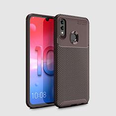 Funda Silicona Carcasa Goma Twill para Huawei Honor 10 Lite Marron