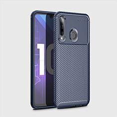 Funda Silicona Carcasa Goma Twill para Huawei Honor 20 Lite Azul
