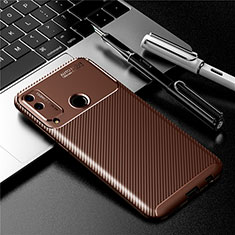 Funda Silicona Carcasa Goma Twill para Huawei Honor Play4T Marron