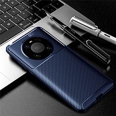 Funda Silicona Carcasa Goma Twill para Huawei Mate 40 Pro Azul