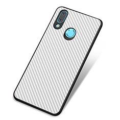 Funda Silicona Carcasa Goma Twill para Huawei Nova 3 Blanco
