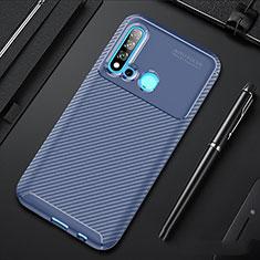 Funda Silicona Carcasa Goma Twill para Huawei Nova 5i Azul