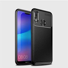 Funda Silicona Carcasa Goma Twill para Huawei P20 Lite Negro