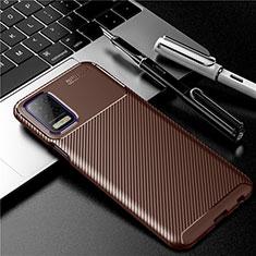 Funda Silicona Carcasa Goma Twill para LG K52 Marron