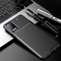 Funda Silicona Carcasa Goma Twill para LG K52 Negro