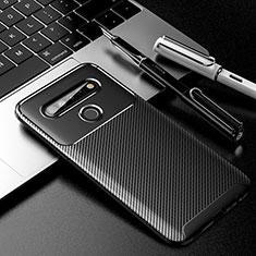 Funda Silicona Carcasa Goma Twill para LG K61 Negro
