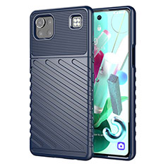 Funda Silicona Carcasa Goma Twill para LG K92 5G Azul