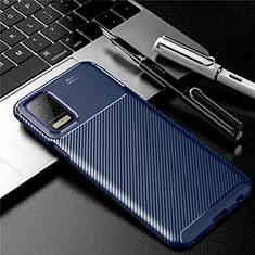 Funda Silicona Carcasa Goma Twill para LG Q52 Azul