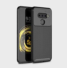 Funda Silicona Carcasa Goma Twill para LG V50 ThinQ 5G Negro